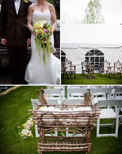 antler decor at wedding