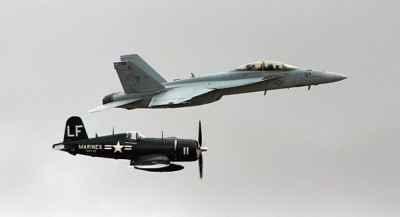 F-4U Corsair and F/A-18 Super Hornet