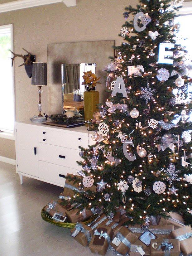 ideias para decorar arvore de natal branca : ideias para decorar arvore de natal branca:Está chegando o Natal! Arranjos e Mesas decoradas, de todos os tipos