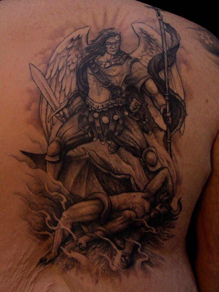 st michael tattoos. St. Michael