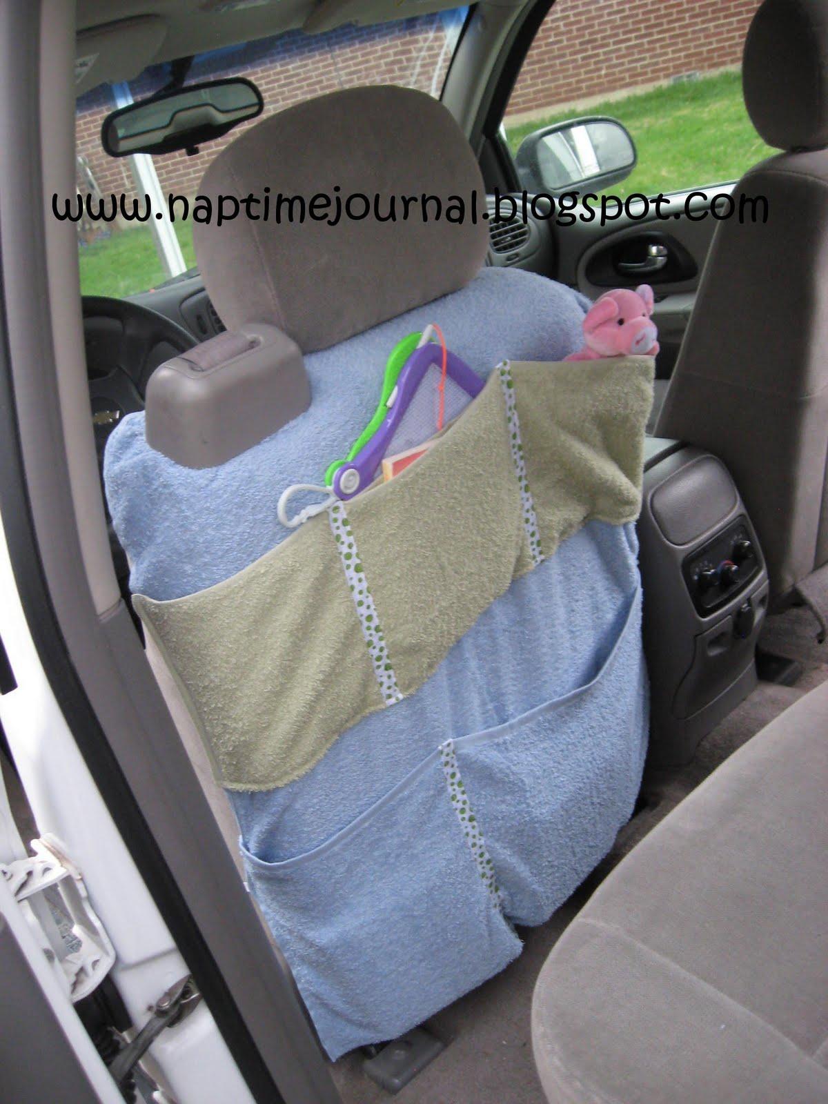 Nap Time Journal: Bathroom Towel CAR ORGANIZER
