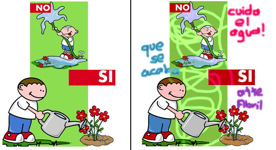 Como preservar el agua dibujos - Imagui