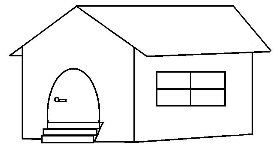 Desenhos para colorir desenho de casa para imprimir e - Para pintar casas ...