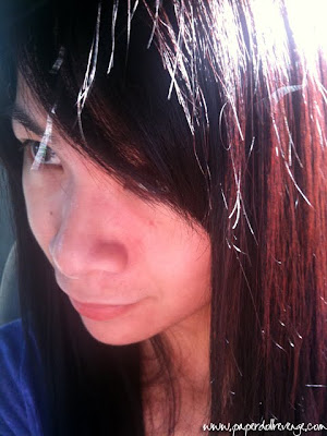 Medium Brown Hair With Red Tint. it has a reddish tint in