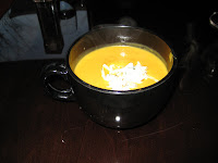 Butternut Squash Soup with Apple Fennel Slaw