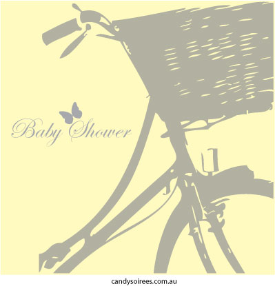 Candy soireese soiree with us the new arrival of yellow introducing our vintage bike baby shower invitation filmwisefo