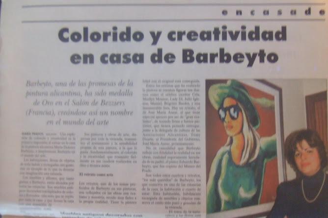"""DIARIO """"LA PRENSA""""-ENTREVISTA A LA PINTORA BARBEYTO"""