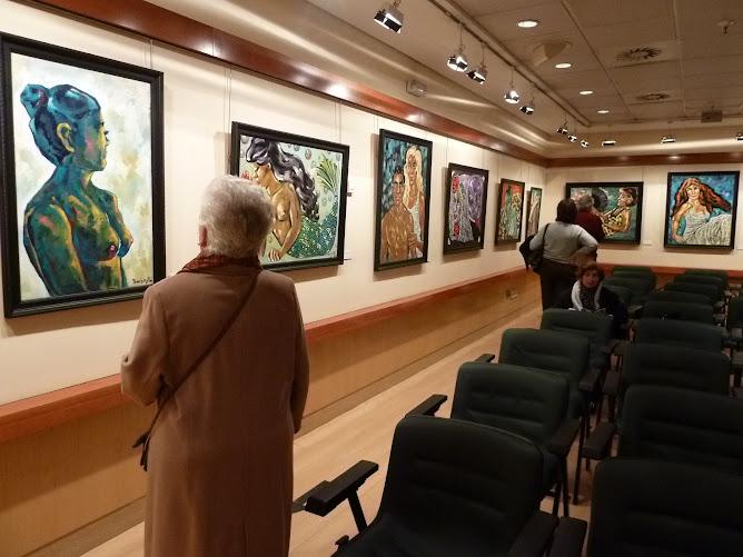 OBRA DE BARBEYTO-EXPOSICION DE BARBEYTO EN EL CORTE INGLES DE ALICANTE