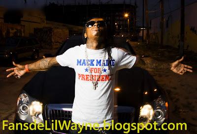 Imagen de Lil Wayne con la camiseta de Mack Maine for president