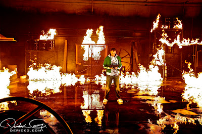 Imagen de el rodaje del video de Fire Flame Remix del disco Like Father, Like Son II