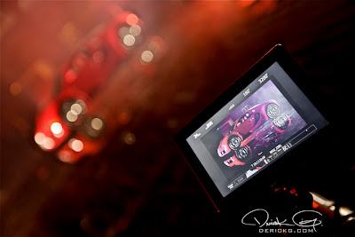 Imagen de el Bugatti Veyron de Birdman en el rodaje del video de Fire Flame Remix del disco Like Father, Like Son II