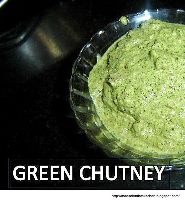 how to prepare green chutney
