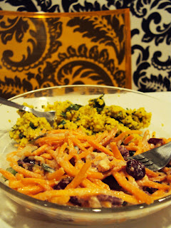 Carrot & Cranberry Salad with Ginger Dressing Recipe