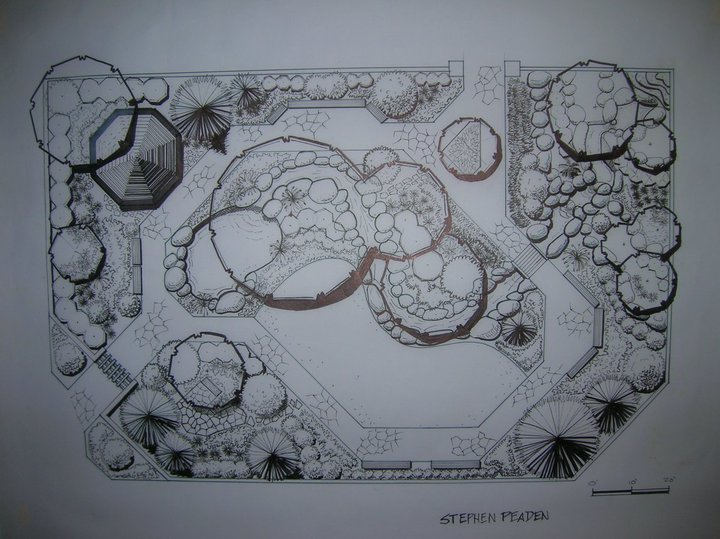 Stephen Peaden: Landscape Drawings and Designs