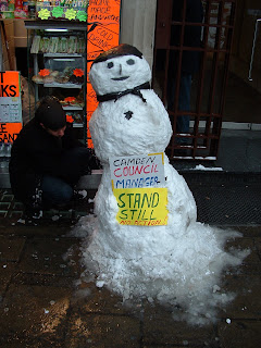 Camden Council Manager Snowman
