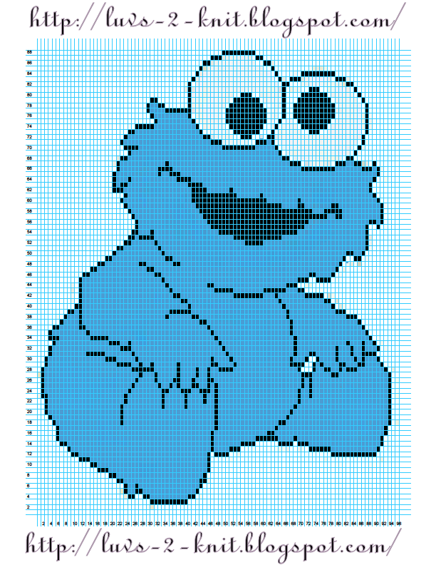 Crochet Stitch Generator : ... By Luvs2knit: Sesame Street Crochet Chart Pattern By Luvs2knit
