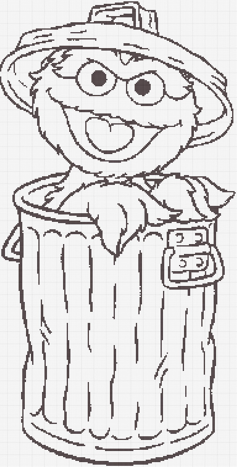 Oscar The Grouch Face Coloring Pages Oscar The Grouch Coloring Page