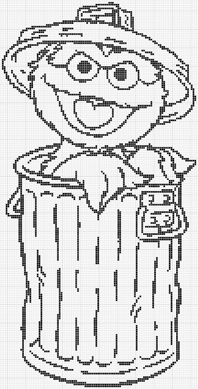 coloring pages oscar the grouch - photo#29
