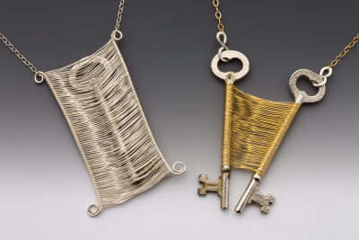 Captured keys wire woven designs by original sin jewelry for Art made with keys