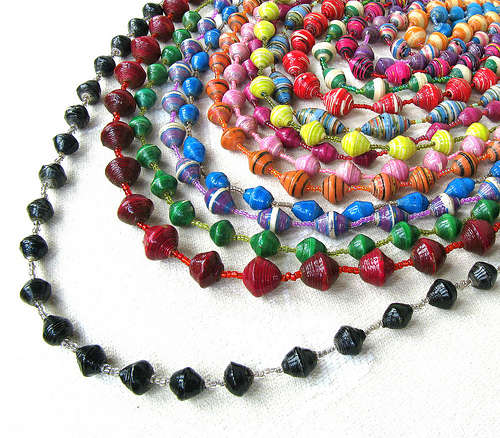 How to make paper beads and jewelry tutorials