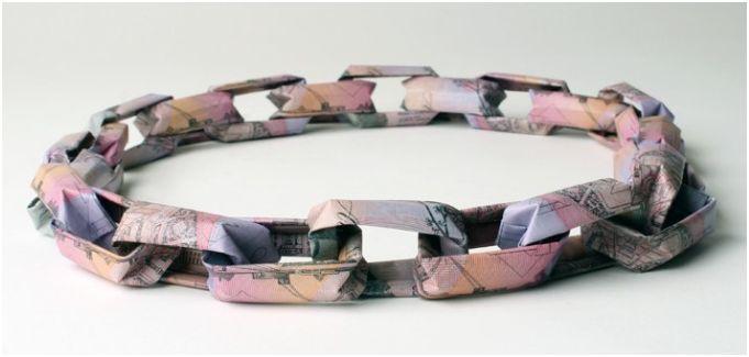 Origami Banknote Jewelry