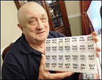Paul Posharow of Frederick received a heart transplant four years ago. As part of his daily regimen, Posharow uses a large box to organize the approximately 30 pills he has to take every day for the rest of his life. Posharow is also a volunteer with the Living Legacy Foundation which champions organ donations. (Frederick News-Post/Sam Yu)
