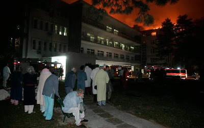 Fire Catches in Park Hospital