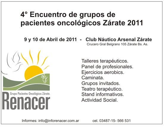 4º Encuentro de grupos de pacientes... Zárate 2011