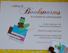 Back to School BookWorm Party! {PLUS Free Printables!}