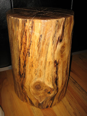 How to make a tree stump end table | Abrentisart Blog