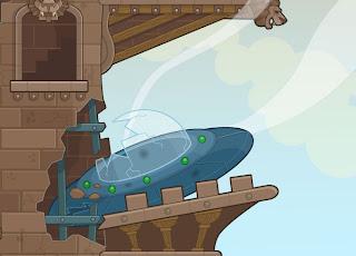UFO Meets Castle