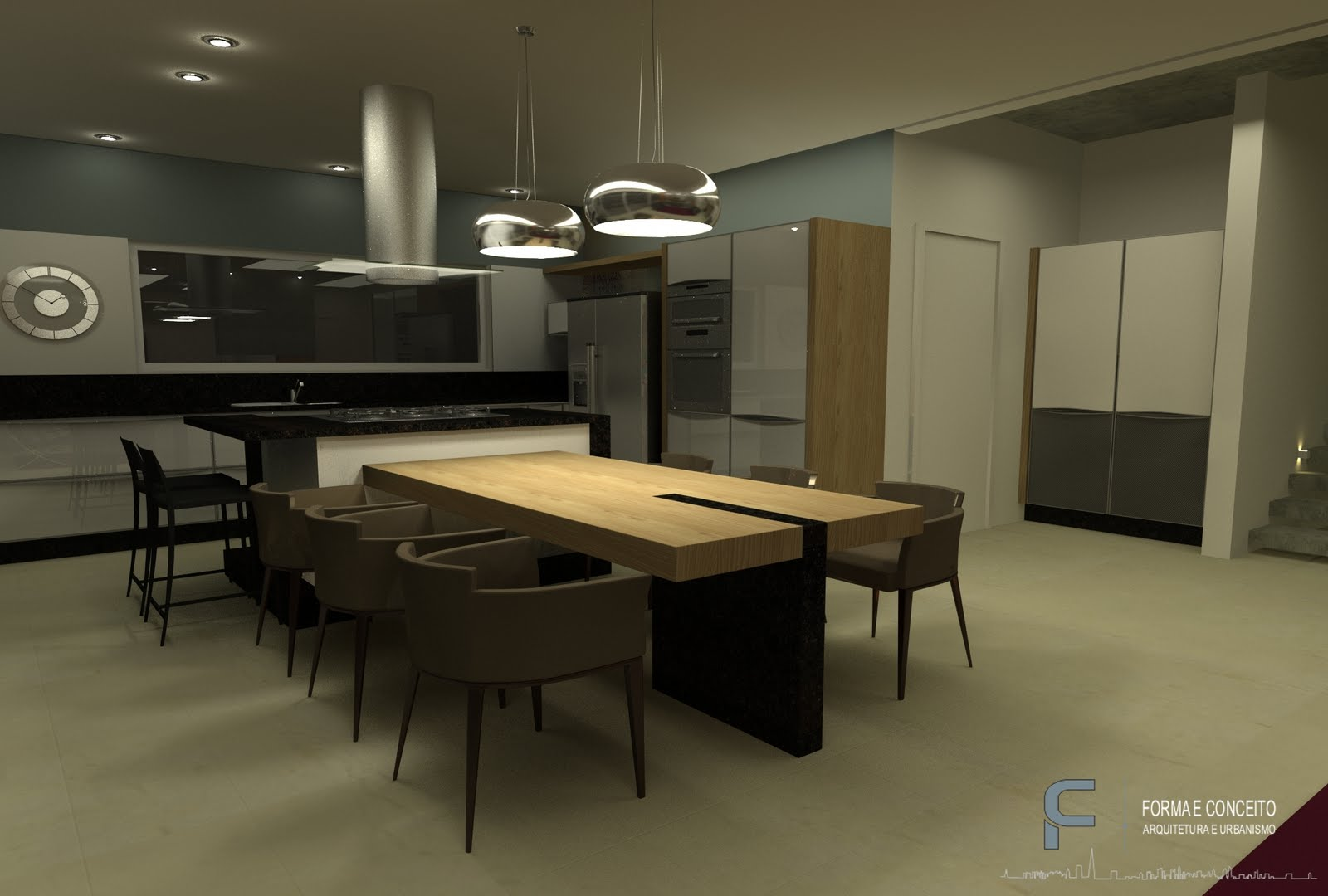 FORMA E CONCEITO ARQUITETURA: Projeto de interiores para residência  #90763B 1600 1080