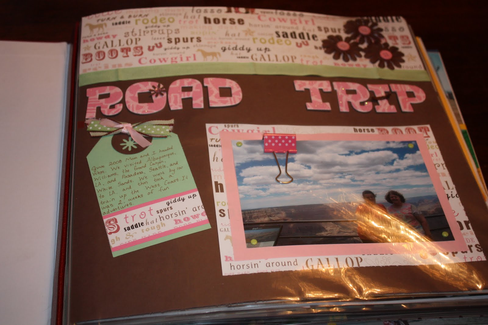 How to scrapbook a road trip -  This Next One Is A Ton Of Pictures From The Road I Made Them All Fit On One Page B C After A Week And A Half Of Road Travel