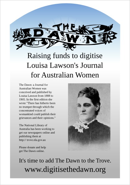 Digitise The Dawn Raising funds to digitise Louisa Lawson's Journal for Australian Women