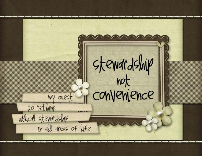 Stewardship Not Convenience