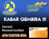 Flexter kerjasama dengan Bank Mandiri Syariah dan asuransi Bank Mega