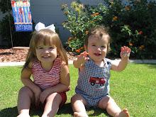 Claire 2 Carson 9 months
