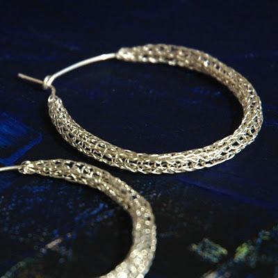 Wire Crochet Earrings Silver Tarnish tip
