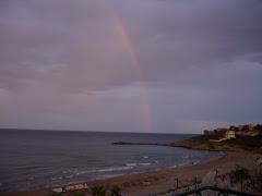 arco iris en Oropesa del Mar