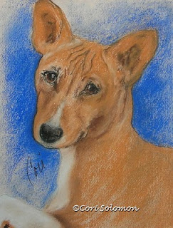 Basenji Dog Art - Small and Mighty By Cori Solomon