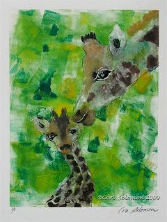 Giraffes - Motherly Love By Cori Solomon