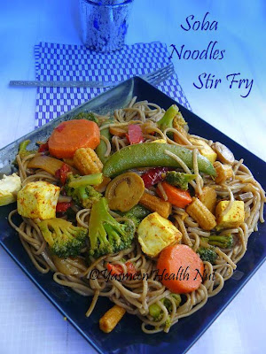 Soba Noodles Tofu Vegetable Stir Fry