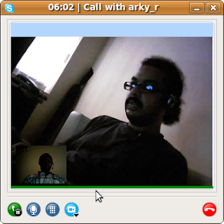 skype video chat window on linux