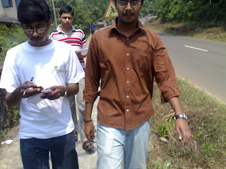 Walking around with GPS device