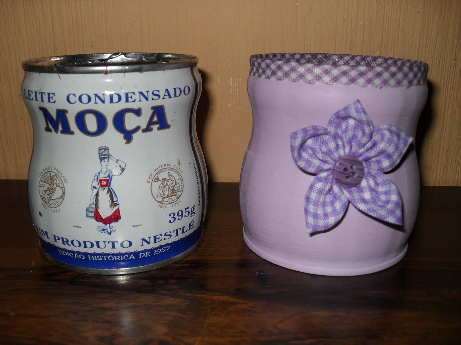 Reciclagem e Arte Artesanato Sustentável por u00b4Maíra Fontoura Upcycling Latas de leite