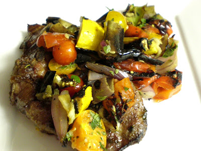 bear necessities: Lamb with Grilled Ratatouille