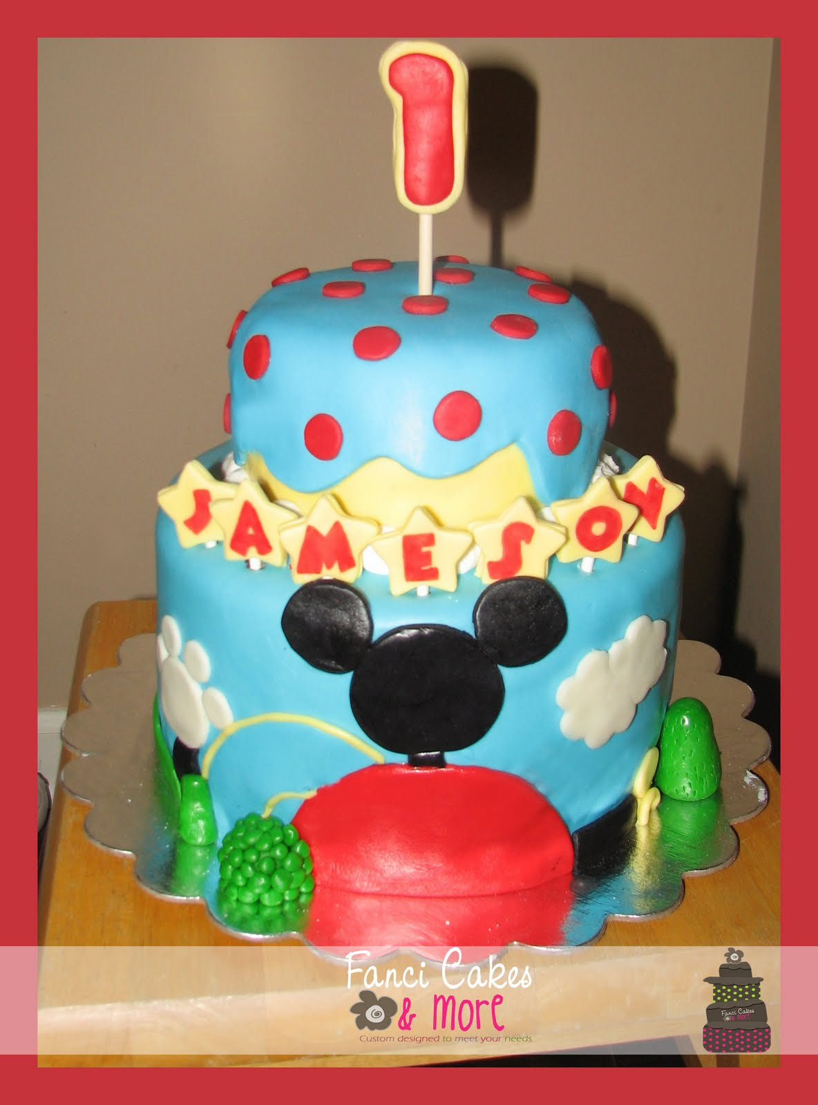 Fanci Cakes More Mickey Mouse 1st Birthday Cake Smash Cake
