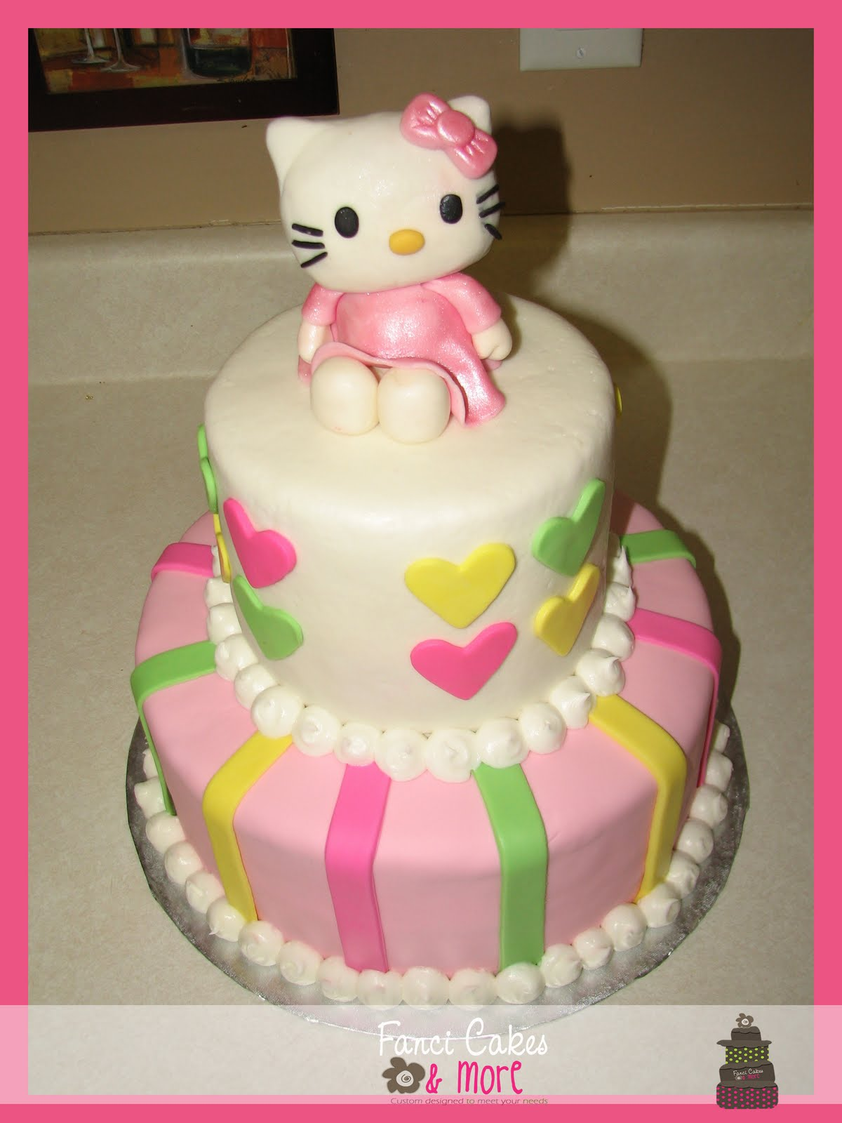 fanci cakes more hello kitty baby shower cake