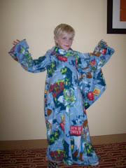 My Nephew, Aiden, Rocks the Snuggie