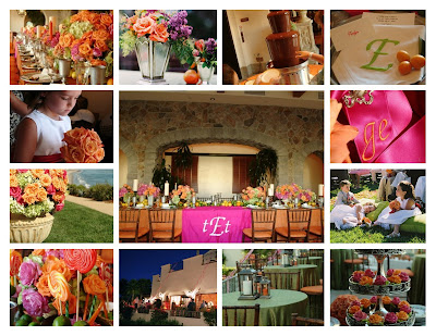 I just love the colors from these weddings I did at Bacara Resort and San